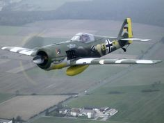 FW-190 Best armed & armored German aircraft of WWII. Used against B-17's in an Interceptor role.
