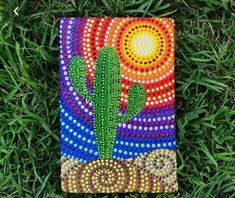 The price is indicated for one unit. You can choose any picture. Approximate dimensions 23 x 16 centimeters. Cactus Painting, Dot Art Painting, Cactus Art, Mandala Painting, Cactus Decor, Cactus Plants, Mandala Dots, Mandala Design, Small Canvas Paintings
