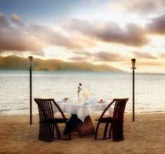 Image detail for -romantic setting table for two on beach