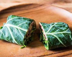 Thinking Outside The Wrap - using greens for wraps.