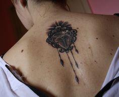 Small Diamond Tattoo Designs to Show Long-Lasting Value With Ink Small Diamond Tattoo, Small Crown Tattoo, Diamond Tattoo Designs, Hip Tattoo Small, Thigh Tattoo Designs, Star Tattoo Designs, Diamond Tattoos, Tattoo Designs For Girls, Small Matching Tattoos