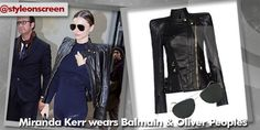 Want to know where Miranda Kerr got her jacket from at Paris Fashion Week? Style on Screen can tell you!