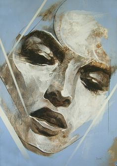 Danny O'Connor is an artist/illustrator from Liverpool, UK. His work is a celebration of contrasts focusing mainly on portraits and figures with a prevalence of Art And Illustration, Abstract Portrait, Portrait Art, Modern Art, Contemporary Art, Gold Leaf Art, Portraits, Face Art, Painting Inspiration