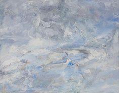 Heinrich Ilmari Rautio:  River Vantaa - Vantaanjoki 12.2.2010 60x75 cm, oil on canvas - öljymaalaus
