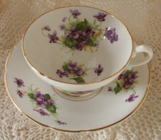 Vintage Antique Stanley Tea Cup & Saucer Fine Bone China Made in England. $14.50, via Etsy.