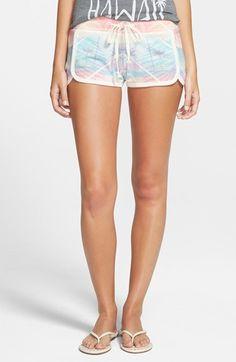 Rip Curl 'Paradise City' Tropical Print Knit Shorts (Juniors)