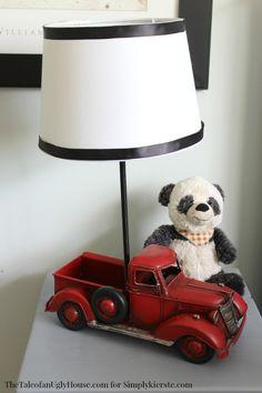 Pottery Barn inspired vintage lamp tutorial