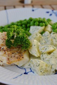 Smörstekt torsk med dillstuvad potatis | ljuvligmat