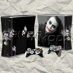 The Joker XBOX 360 Skin Set - Console with 2 Controllers