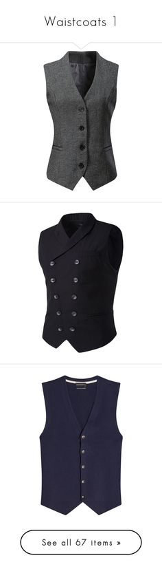 """""""Waistcoats 1"""" by carlisafights ❤ liked on Polyvore featuring outerwear, vests, dressy vest, waistcoat vest, v neck vest, grey waistcoat, grey vest, men's fashion, men's clothing and men's outerwear"""