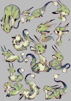 Kunst von Ryota Murayama a.a Ovopack * Mythical Creatures Art, Cute Creatures, Pet Anime, Creature Concept Art, Creature Design, Creature Drawings, Cute Dragons, Cute Animal Drawings, Character Design Inspiration