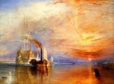 It's a William Turner Morning. The Fighting Temeraire tugged to her last berth to be broken up, 1838 Joseph Mallord William Turner. The one and only forever out of reach, any Turner would be welcome on my walls. Joseph Mallord William Turner, Pinterest Pinturas, Art Romantique, Turner Painting, Painting Prints, Art Prints, Canvas Prints, Painting Gallery, Painting Art