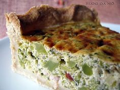 Blog da Nô: Quiche de Broccoli, Tomate Seco e Bacon
