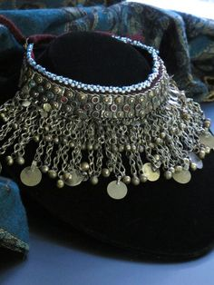Vintage Kuchi Tribal Jewelry Choker from Afghanistan