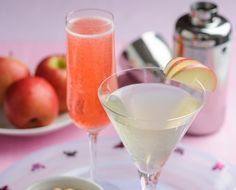 Pink Lady & Champagne Cocktail