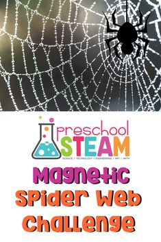 This STEAM activity is an opportunity for children to explore the force of magnets while learning about spiders! Preschool Science Activities, Science Lesson Plans, Preschool Lesson Plans, Science For Kids, Preschool Ideas, Elementary Science, Halloween Activities, Teaching Science, Halloween Fun