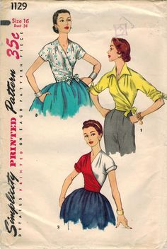 1950s Simplicity 1129 UNCUT Vintage Sewing by midvalecottage