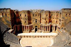 | ♕ | Roman Amphitheater - Bosra, Syria | by friend_faraway ~ | via -cityoflove