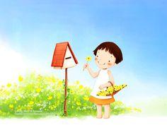Children's illustrations : Children's Day Art Illustrations - Childhood Memories and Fun 1024*768 NO.31 Wallpaper
