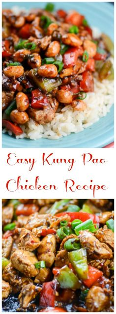 Easy Kung Pao Chicken Recipe by Flavor Mosaic is a quick and easy, delicious Asian stir fry dinner that can be made in under 30 minutes and makes a great weeknight dinner. No need to order takeout.