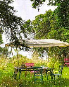 This Ivy House: Photo  Craft idea: Make this canopied table.