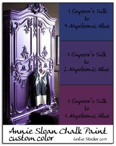 COLORWAYS   Annie Sloan Chalk Paint custom color purple. Inspiration idea