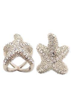 Starfish Rhinestone Ring