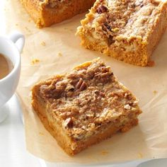 Pumpkin Pie Bars Recipe from Taste of Home -- shared by Sue Draheim of Waterford, Wisconsin