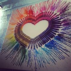 Melted crayon heart - picture only