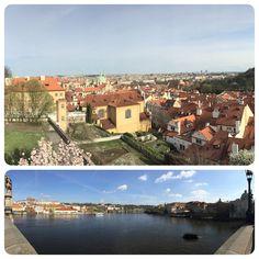 Dobry Den ! From Prague, Prague castle and Charles Bridge, Prague, Czech Republic.