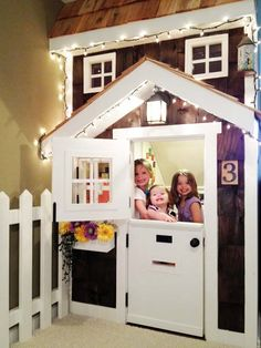 Kids' Basement Built-in Playhouse: After from this old house reader remodel Best Built-Ins Before and Afters 2013
