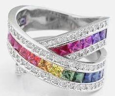 #WhiteGold #Diamond #Rainbow #Diamonds #Ring #Jewellery