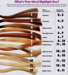 Check the ideal highlight hue for your hair! Killer Strands Hair Clinic: Tones and Hues in Hair Color Home Hair Color 101 Lessons awesome my hair is fiery light brown! 27 Real Girls Prove Anyone Can Rock Rainbow-Bright Hair Hair Levels, Levels Of Hair Color, Hair Color Formulas, Hair Clinic, Hair Color Techniques, Hair Color And Cut, Hair Highlights, Highlights At Home, Chestnut Highlights