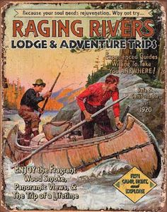 Raging Rivers Trips Tin Sign at AllPosters.com