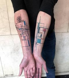 118 Impressive Architecture Tattoo Designs,mircoisdead. Via Instagram
