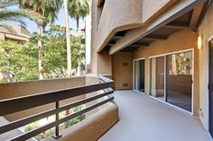 Huge private balcony at 3400 Avenue of the Arts Apartments, Costa Mesa, CA