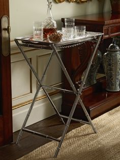 Ralph Lauren bamboo tray table - 1920s cocktails