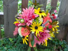 Wedding Flowers from Springwell: Late Summer Bouquet from the Garden