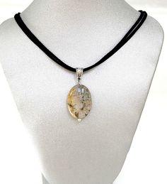 Natural Gemstone Ocean Jasper Pendant Necklace Black Cord 17' Fengshui Chakra @Gail Regan Truax://stores.ebay.com/BeautyandtheGems.
