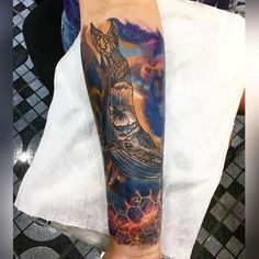 tattoo space тату кит космос