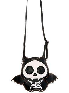 Batty Skeleton Creepy Cute Crossbody Purse - $39.00 at PLASTICLAND