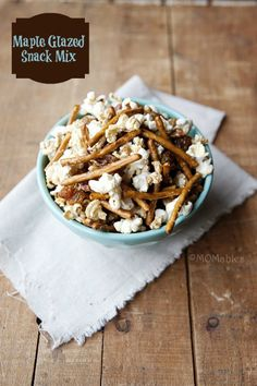 Maple Glazed Snack Mix - MOMables® - Real Food Healthy School Lunch & Meal Ideas Kids Will LOVE