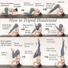 Step-by-step tips for Forearm Stand + Tripod Headstand. Don't be afraid to use props + a wall! Asana, Yoga Headstand, How To Do Headstand, Handstands, Forearm Stand, Yoga Lyon, Yoga For All, Handstand, Yoga At Home