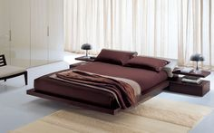 Minimalist Bed Design Plans: Antique Spacious Italian Style Platform Bed Minimalist Design