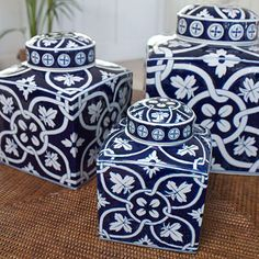Although these are far from being antiques they can be a nice start for a blue and white collection - Contemporary, bold and inexpensive.