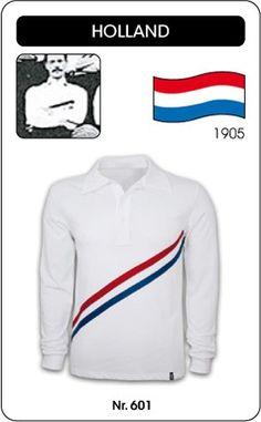 Nederland voetbalshirt 1905 Holland retro voetbal truitje football soccer vintage sport COPA