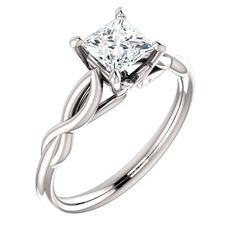 This ring is created with Charles & Colvard Forever One Moissanite - colorless; eye clean; excellent brilliance; good cut; good polish. Includes Certificate...