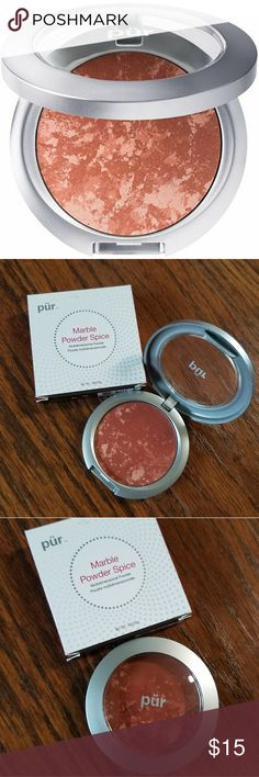 🆕PÜR Universal Marble Mineral Powder BNIB BNIB/ FULL SZ  MARBLE POWDER SPICE Has been SOLD OUT FOR A WHILE NOW!  Universal Marble Mineral Powder  This mineral powder is fantastic for eye brightening, blushing and lip enhancing.  A wealth of vitamins and minerals combine with shea butter and vitamin E for light and lovely coverage while conditioning your skin.  Like all PÜR products, PÜR Universal Marble Mineral Powder is free of oil, alcohol, talc, fillers, fragrance and chemical dyes…