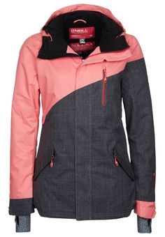Ski jacket CORAL by O'neill I want! im so gunna start snow boarding again next winter!