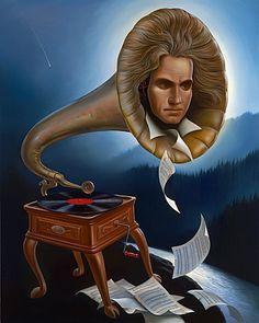 Vladimir Kush, Spirit of Beethoven [Lives On]    #art #music #beethoven